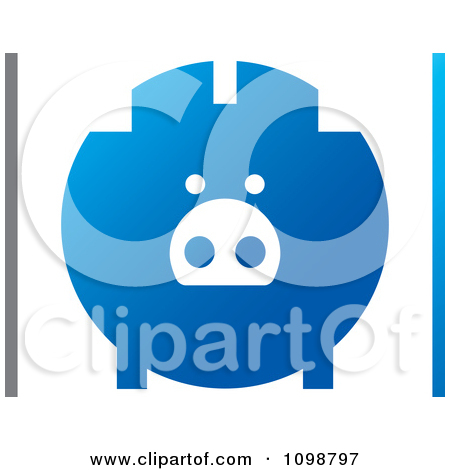 Blue piggy bank clipart picture free library Piggy Bank Borders Clipart - Clipart Kid picture free library