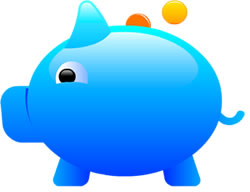 Blue piggy bank clipart image library library Blue piggy bank clipart - ClipartFest image library library