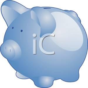 Blue piggy bank clipart png transparent library Cute Blue Piggy Bank - Royalty Free Clipart Picture png transparent library