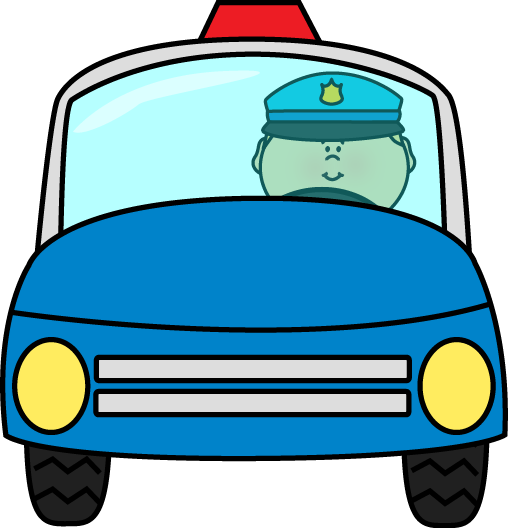 Blue police car clipart. Driving clip art officer