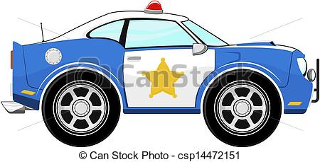 Blue police car clipart graphic royalty free download Clipart Vector of funny blue police car cartoon isolated on white ... graphic royalty free download