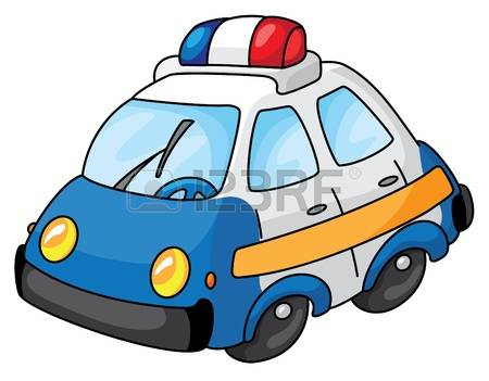 cliparts stock vector. Blue police car clipart