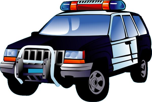 Blue police car clipart clip transparent library Police car clip art free - ClipartFox clip transparent library