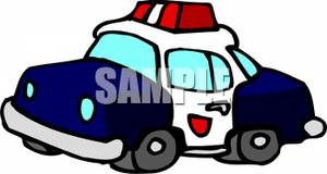 Blue police car clipart png transparent stock Picture: A Blue and White Police Car png transparent stock