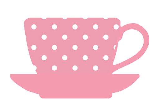 Blue polka dot teacup and saucer clipart free freeuse library tea cup pink white dots | Kitchen clipart | Coffee stencils, Kitchen ... freeuse library