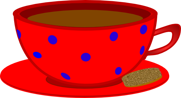 Blue polka dot teacup and saucer clipart free graphic library library Red Cup, Saucer, Blue Polka Dots Clip Art at Clker.com - vector clip ... graphic library library