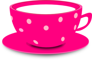 Blue polka dot teacup and saucer clipart free clipart stock Tea Cup Pink clip art - vector clip art online, royalty free ... clipart stock