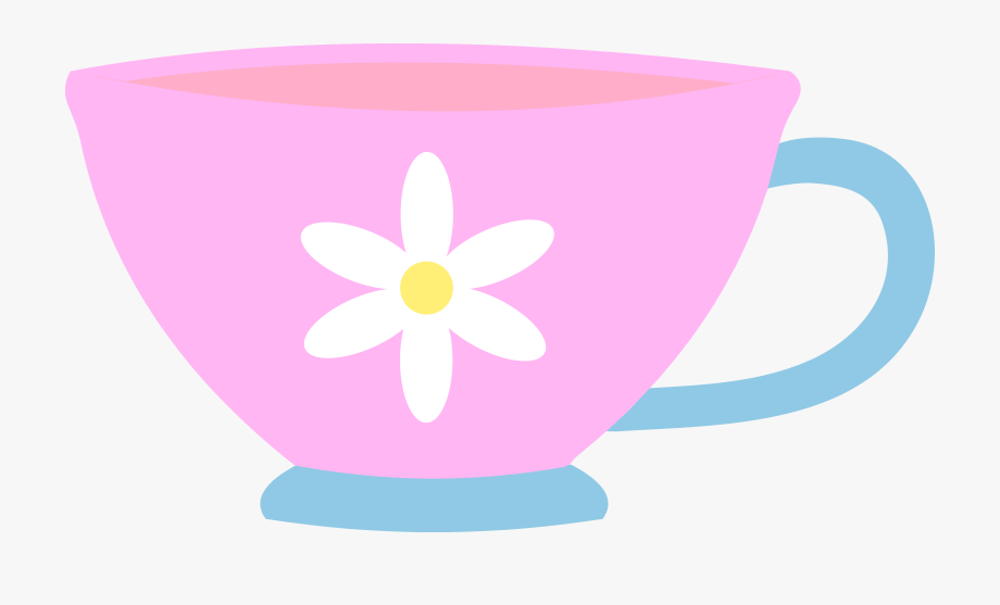 Tea cup with flowers clipart