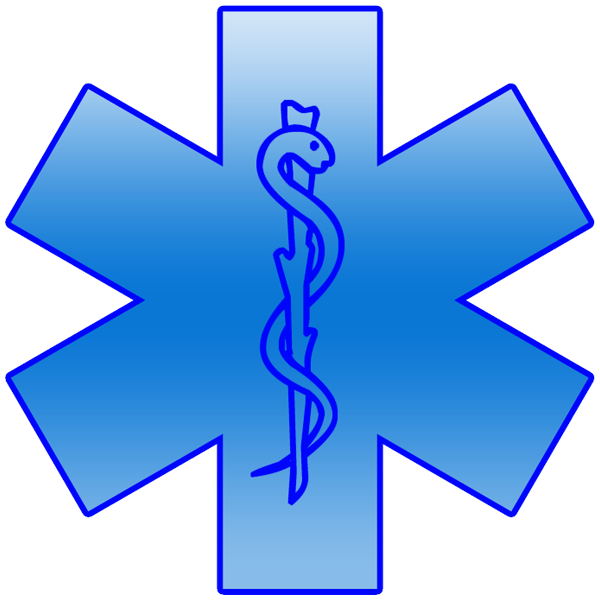 Blue star of life clipart clipart image - ipharmd.net banner black and white library