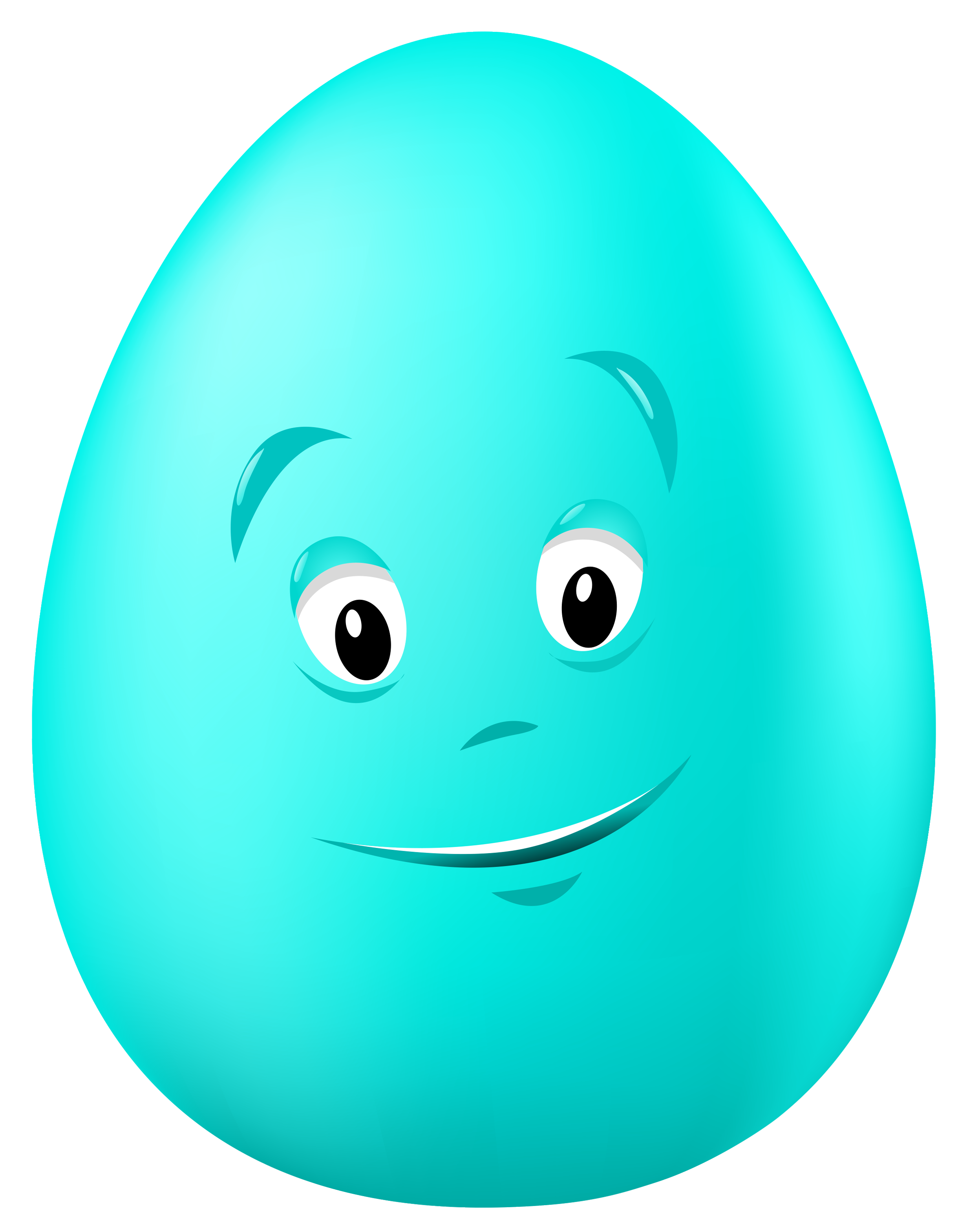 Transparent Easter Blue Egg with Face PNG Clipart Picture | Gallery ... vector free