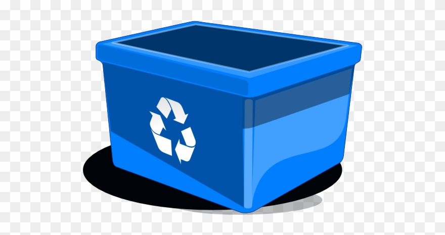 Blue recycling bin clipart picture freeuse Cartoon Blue Recycle Bin Clipart (#112947) - PinClipart picture freeuse