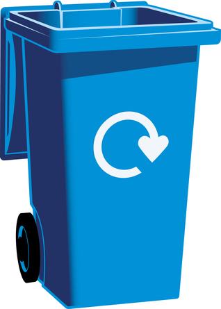 Blue recycling bin clipart clip art free Open blue bin with logo - WRAP Resource Library clip art free