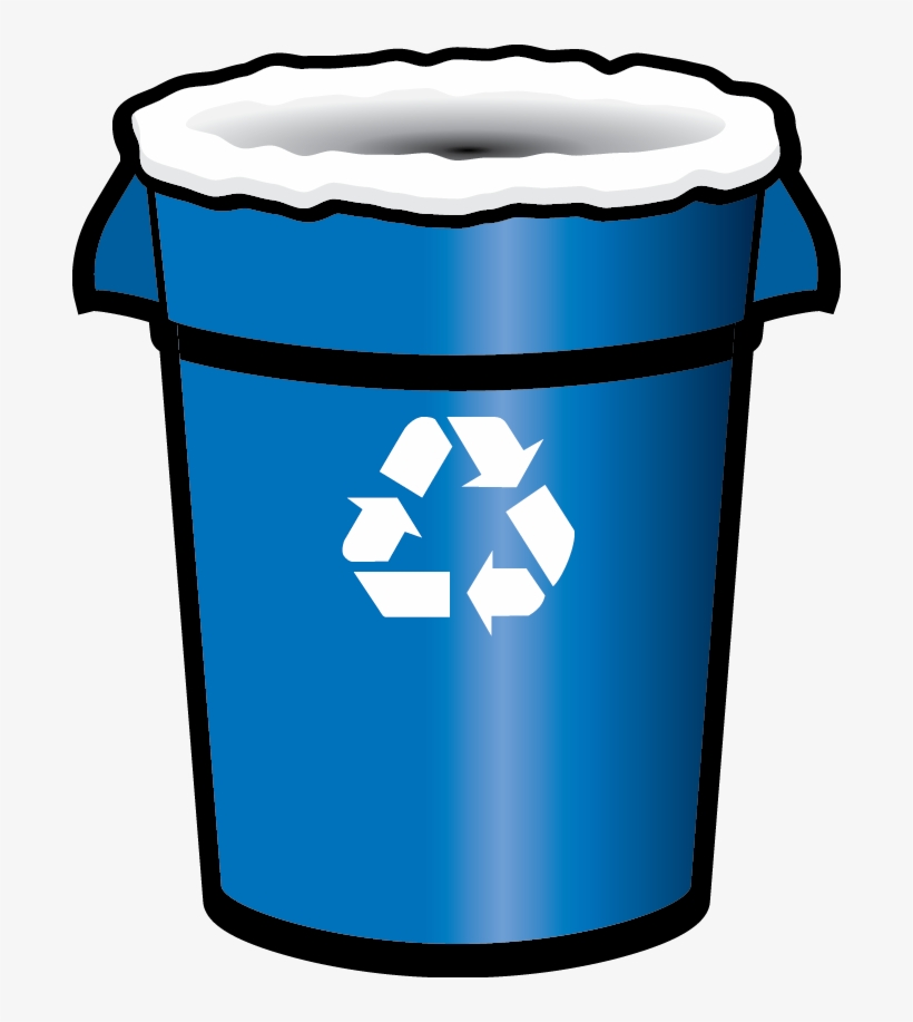 Blue recycling bin clipart picture black and white stock Recycle Clipart Recycling Container - Blue Recycle Bin Png - 690x837 ... picture black and white stock