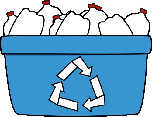 Blue recycling bin clipart jpg free stock Blue Recycle Bin with Plastic Bottles with Plastic Bottles | JAS ... jpg free stock