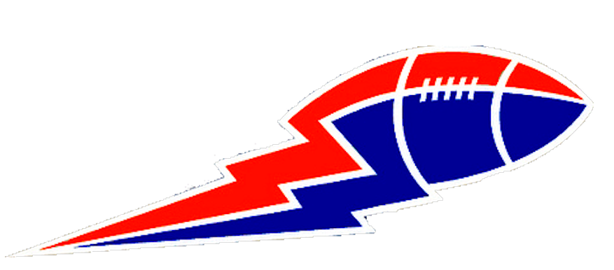 Football Lightning Bolt Blue And Red Big | Free Images at Clker.com ... free download