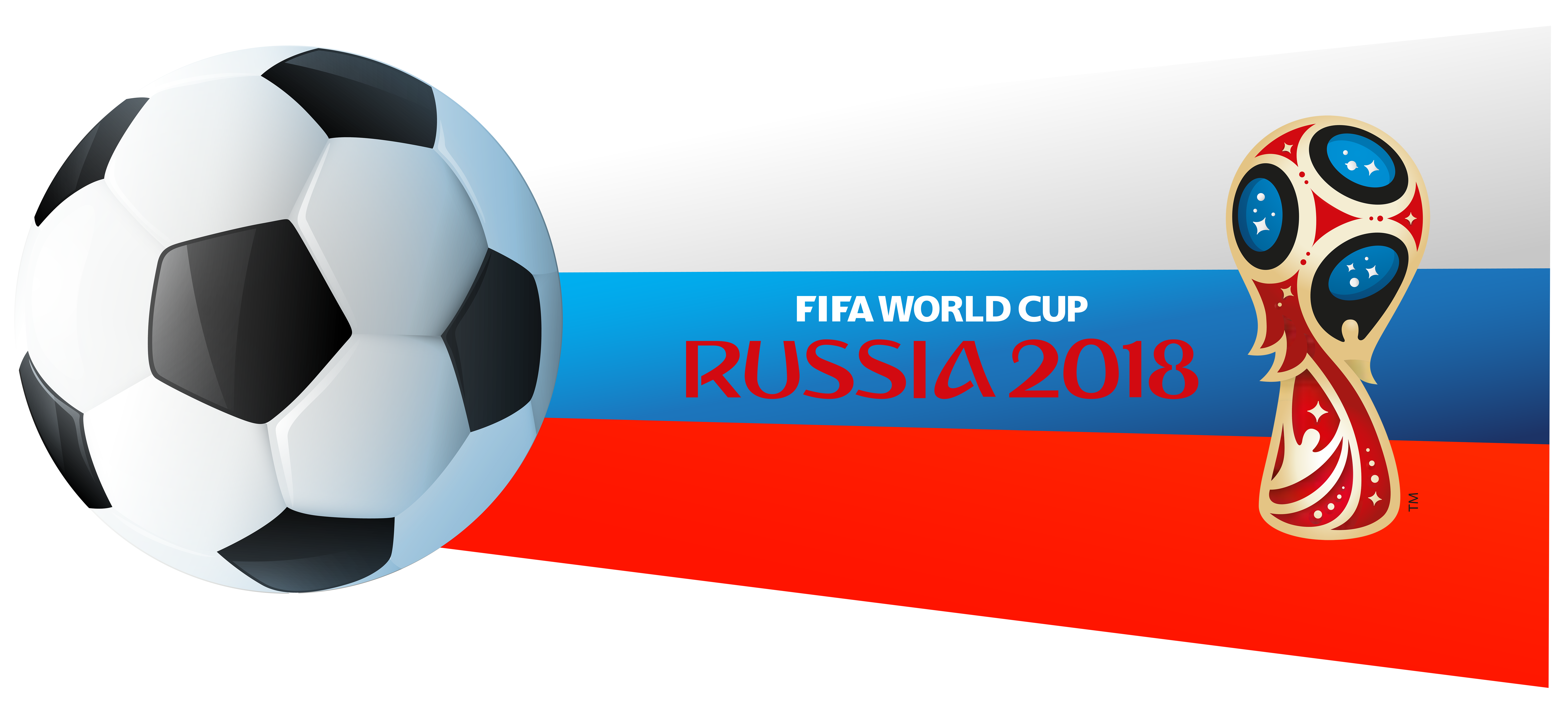 World Cup Russia 2018 PNG Clip Art Image | Gallery Yopriceville ... clipart black and white