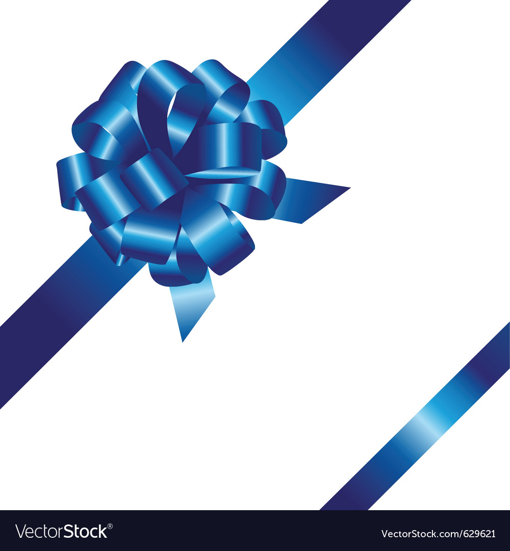 Blue ribbon bow clipart