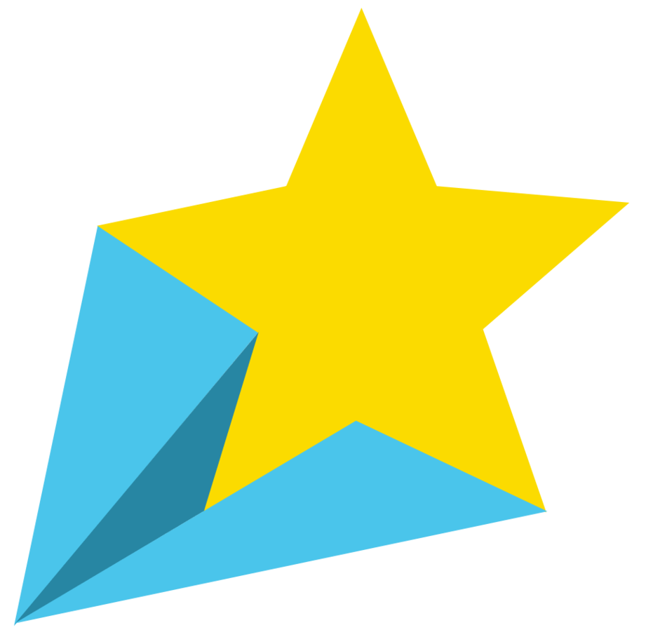 Blue shooting star clipart vector stock Blue Yellow Shooting Star PNG - PHOTOS PNG vector stock