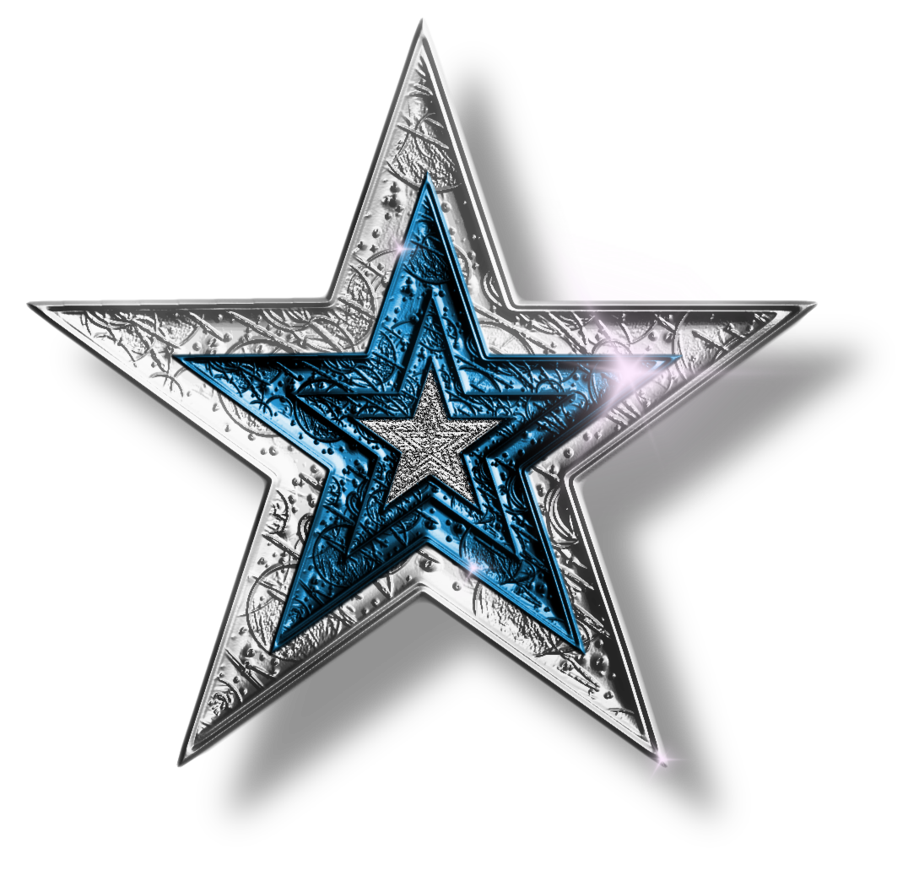 Clipart army silver star clipart black and white stock Silver-Blue Star PNG by JSSanDA | Desain | Pinterest clipart black and white stock