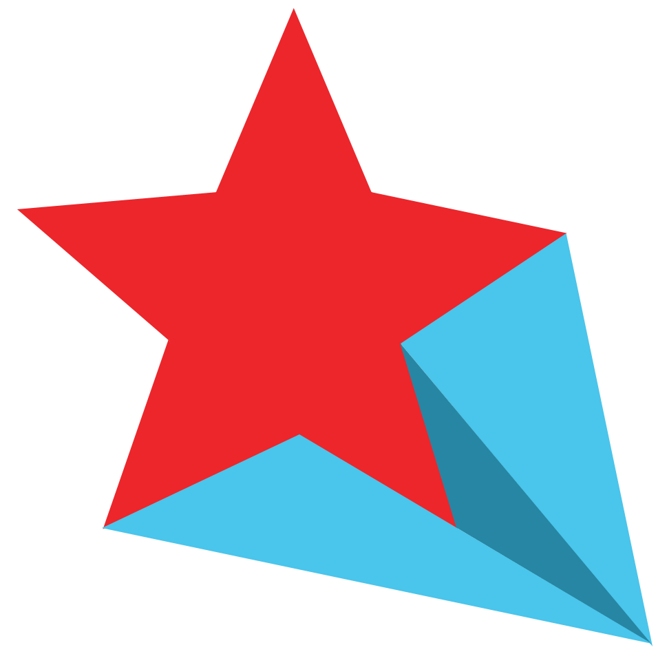 Blue shooting star clipart clip free Red Blue Shooting Star transparent PNG - StickPNG clip free