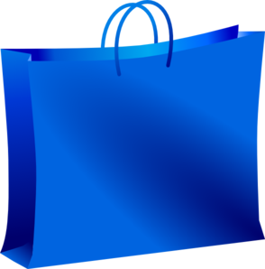 Blue shopping bag png clipart free png black and white library Blue Shopping Bag PNG, SVG Clip art for Web - Download Clip Art, PNG ... png black and white library