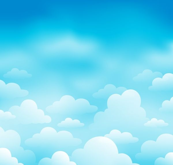 Clipart blue sky picture black and white White clouds with blue sky vector background 04 | Μπορντούρες ... picture black and white