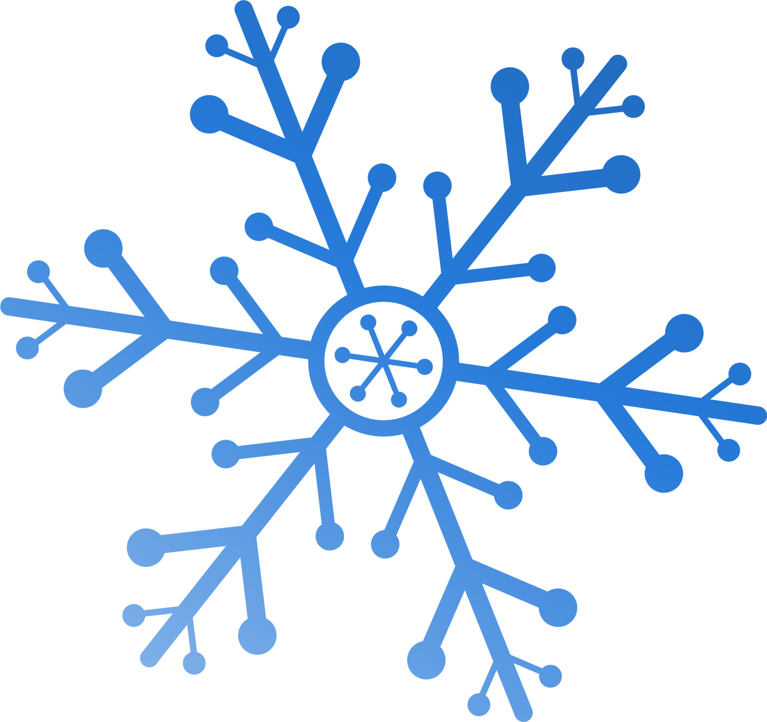 Clipart simple snowflake png royalty free stock Snowflake Watercolor painting Clip art - Beautiful blue snowflake ... png royalty free stock