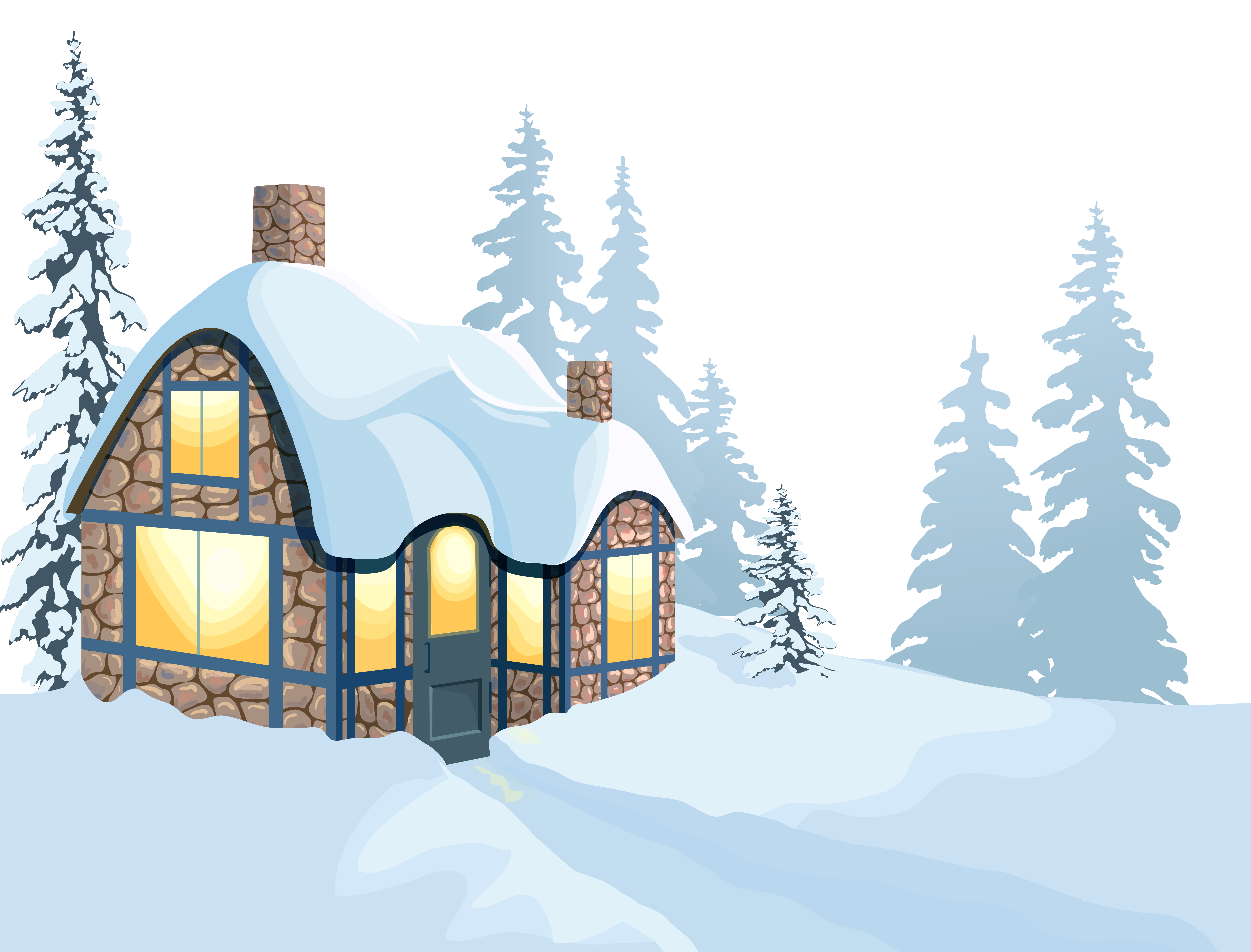 House in snow clipart clip art freeuse library Snow Clipart | jokingart.com clip art freeuse library