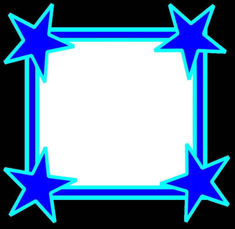 Star clipart borders jpg free library Clip Art Borders and Corners | Blue Corner Border Clip Art Blue ... jpg free library