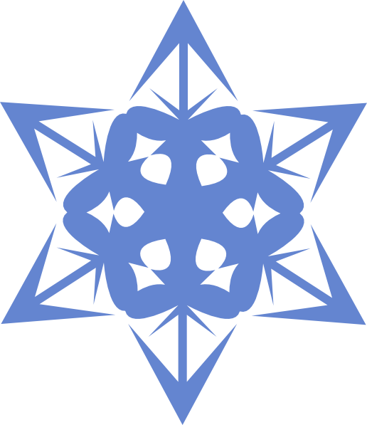 Blue Snowflake Clip Art at Clker.com - vector clip art online ... graphic black and white download