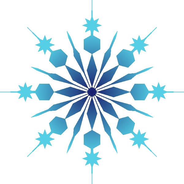 Blue snowflake clipart vector transparent stock Snowflake Clip Art at Clker.com - vector clip art online, royalty ... vector transparent stock