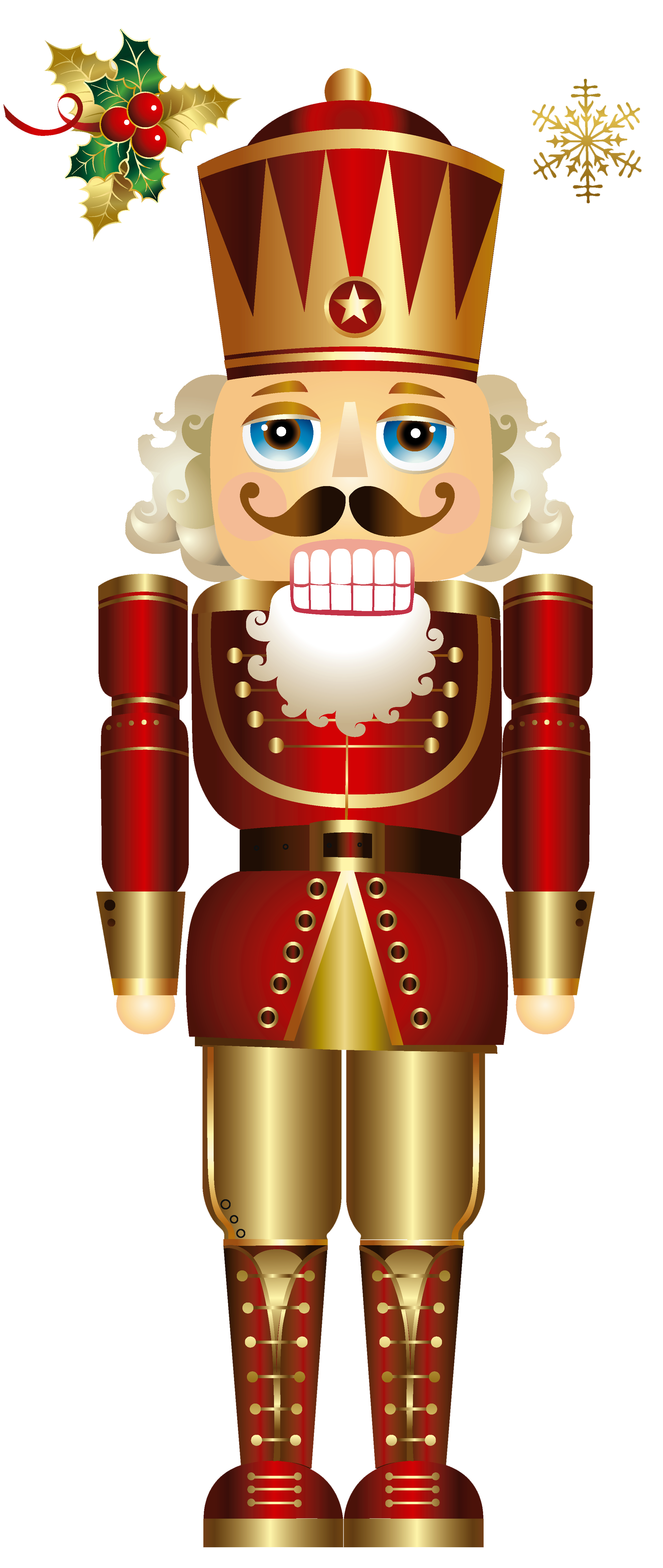Blue snowflake clipart with face png free Christmas Nutcracker PNG Clipart | Gallery Yopriceville - High ... png free