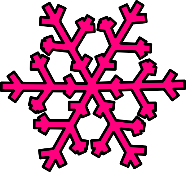 Blue snowflake outline clipart svg royalty free Pink And Blue Snowflake Clipart | Clipart Panda - Free Clipart Images svg royalty free