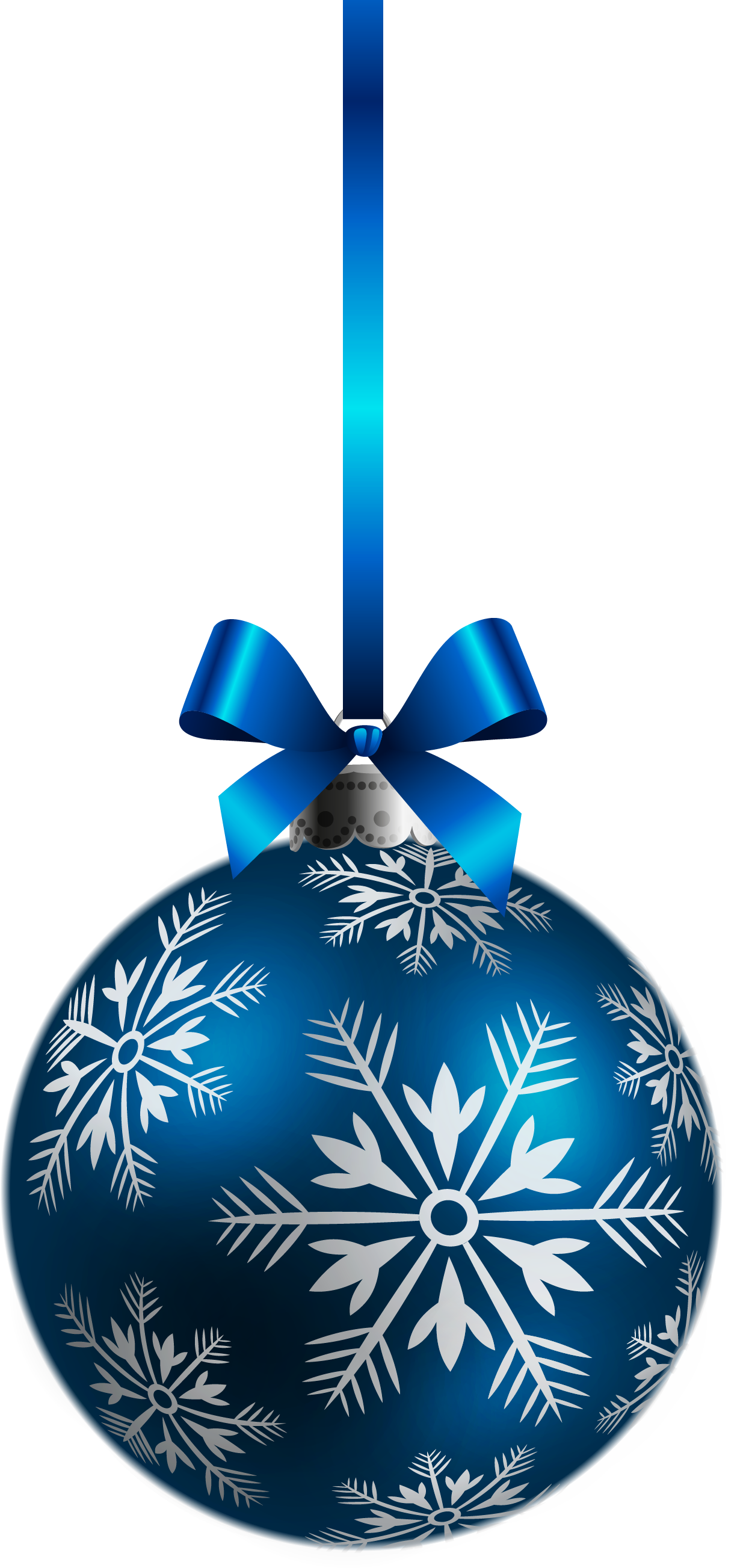 Blue snowflake free banner clipart picture black and white stock Large Transparent Blue Christmas Ball Ornament PNG Clipart ... picture black and white stock