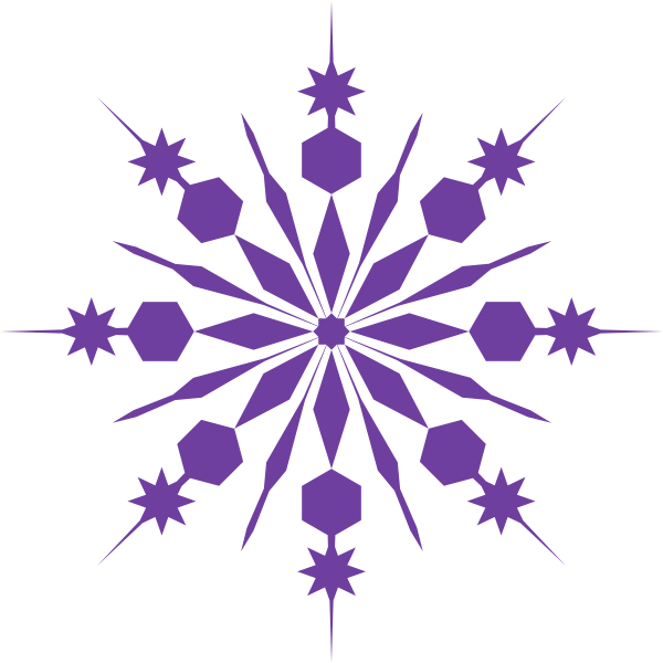Crystal snowflake clipart graphic black and white library Snowflake Clip Art | Purple Snowflake Clip Art at Clker.com - vector ... graphic black and white library