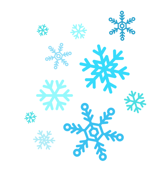 Blue snowflake outline clipart image Catching Snowflakes Cliparts#187939 image