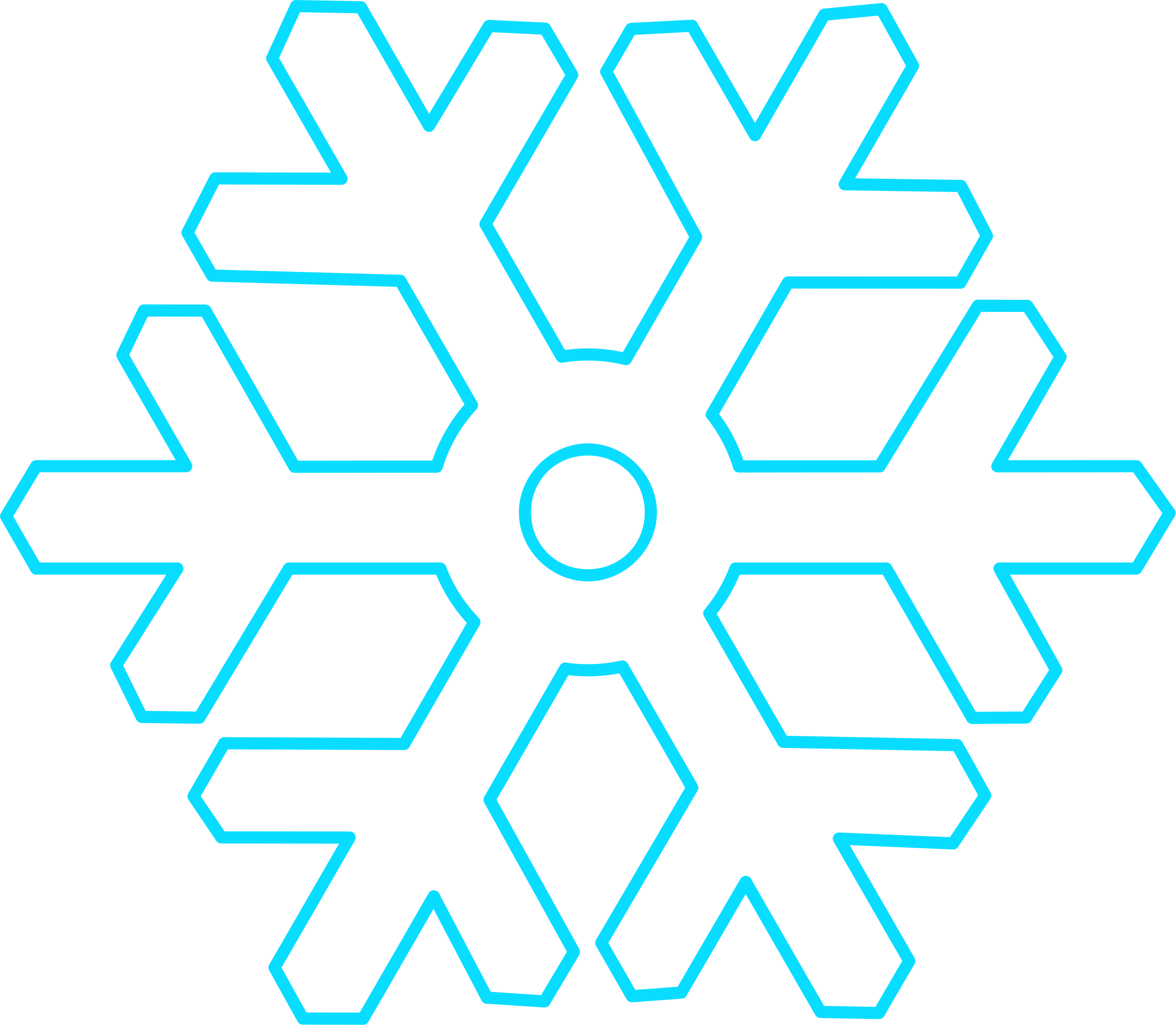 Blue snowflake outline clipart graphic library library Clipart - Flat white snowflake with hollow circular center graphic library library