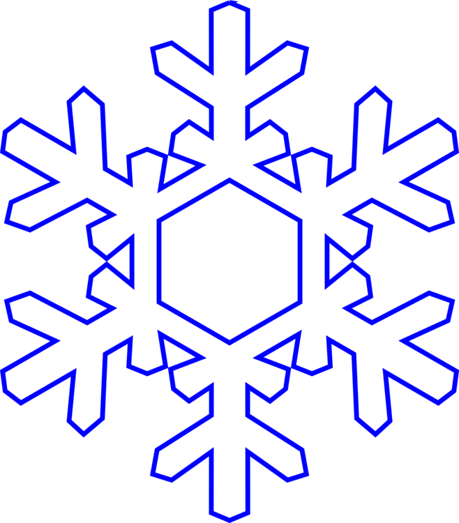 Blue snowflake outline clipart jpg transparent Snowflake Paper Coloring book Outline Drawing CC0 - Graphic Design ... jpg transparent