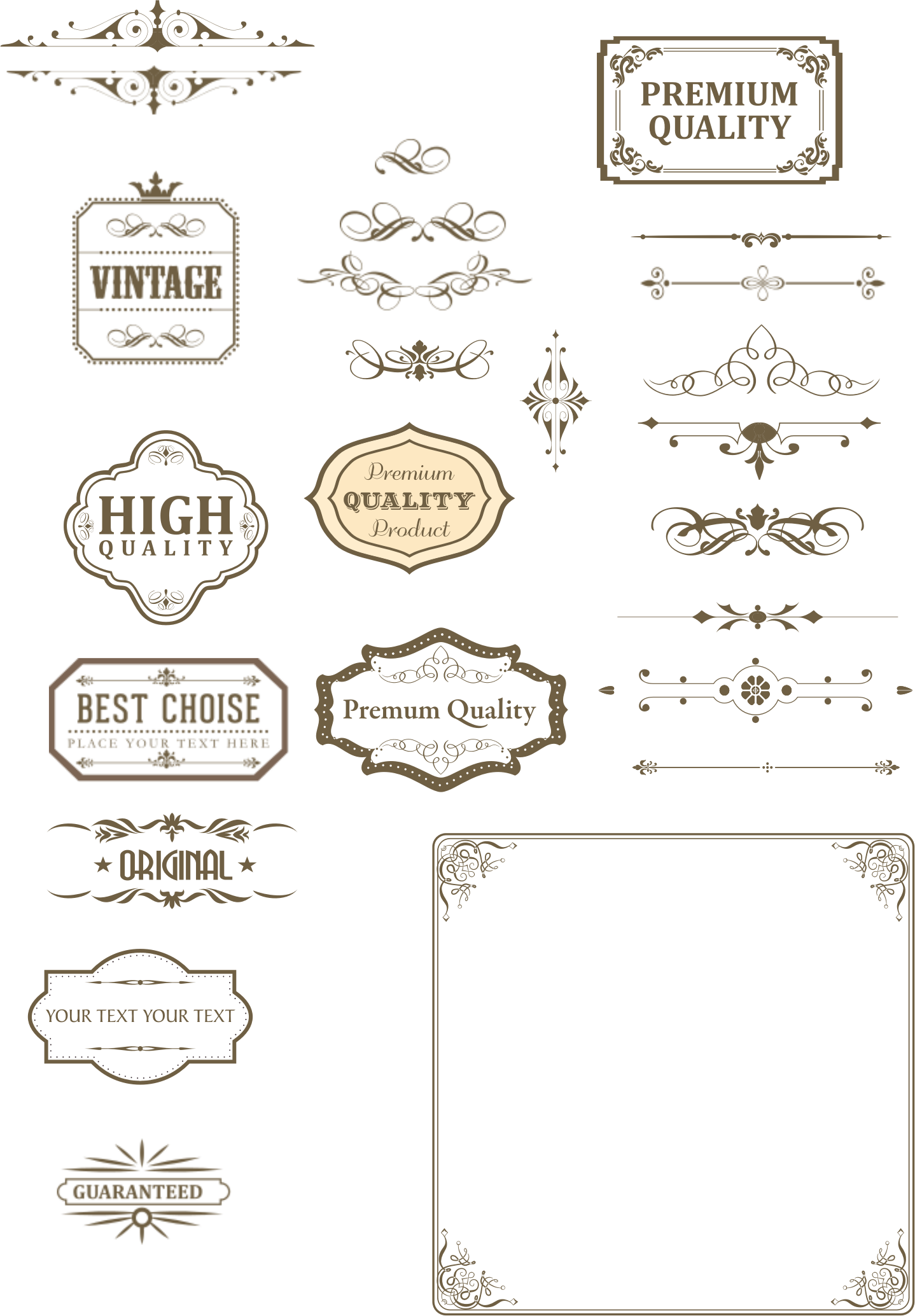Vintage text box and. Fish divider clipart
