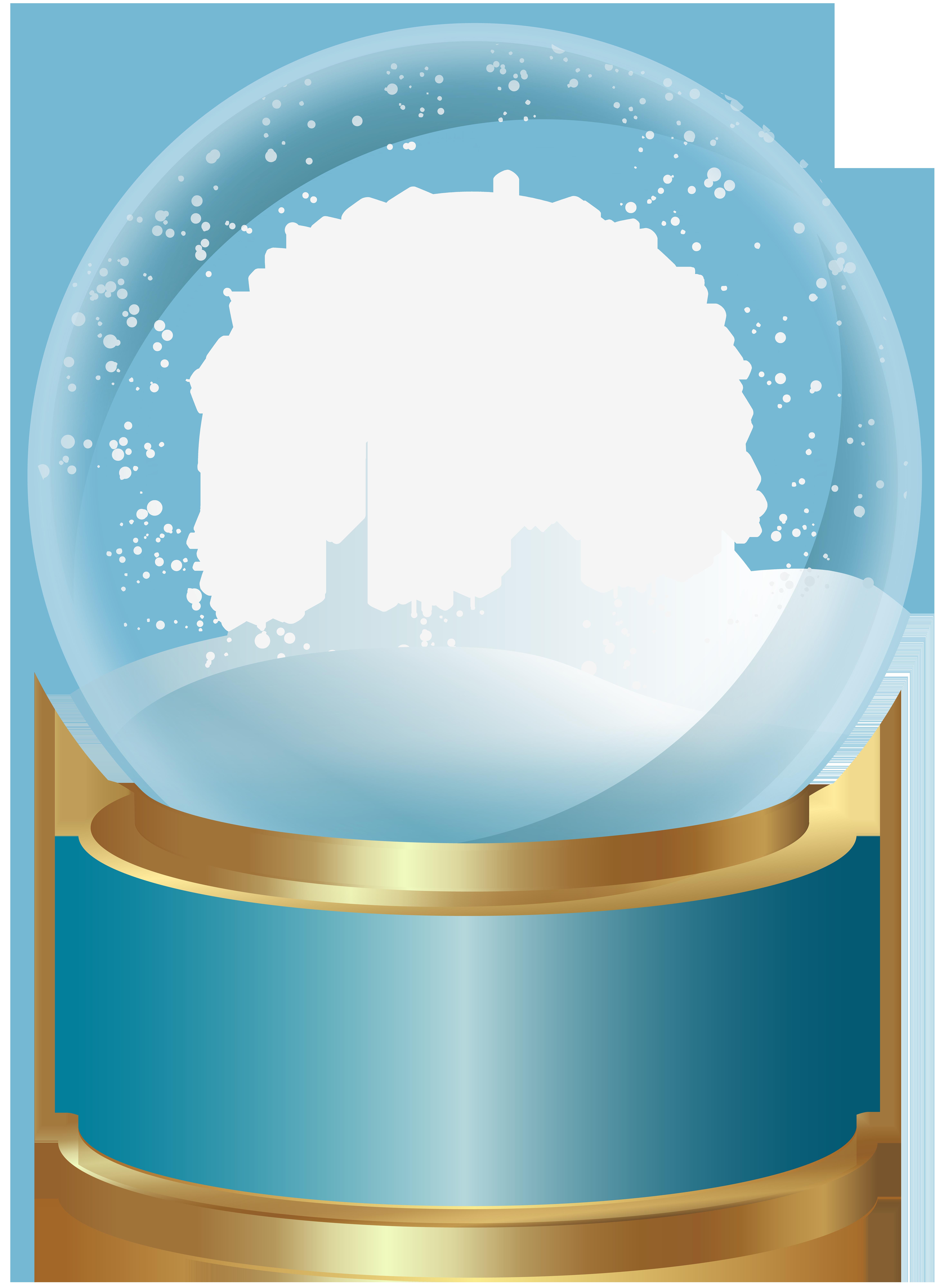 Blue snowglobe clipart
