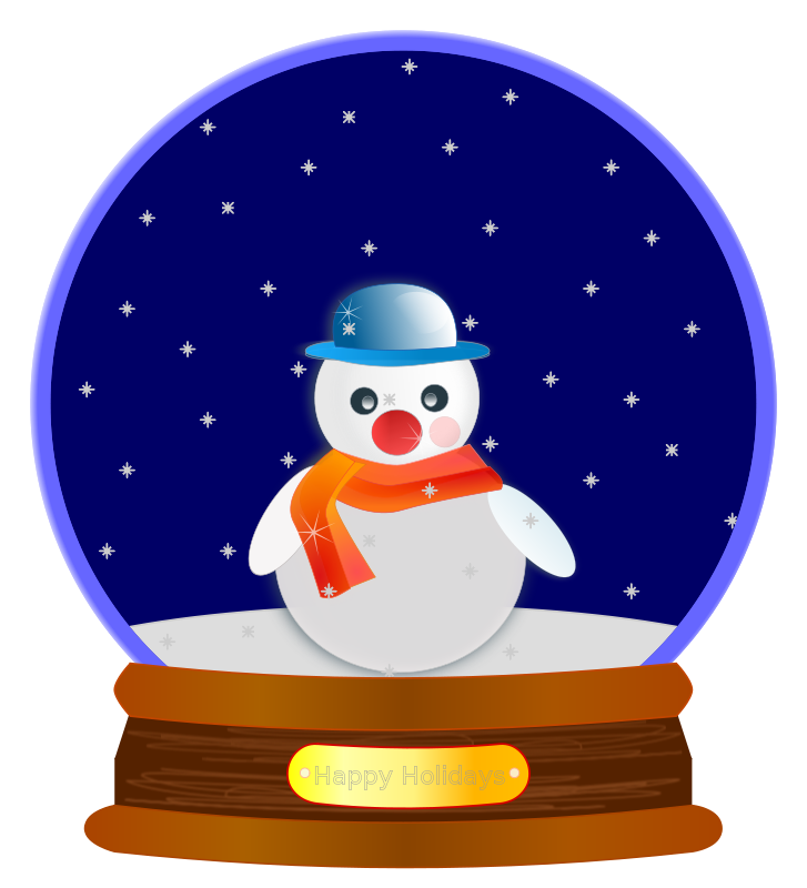 Snowing clipart animated