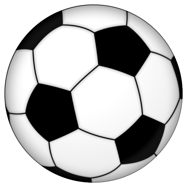 Clipart soccer ball free jpg black and white Blue soccer ball clipart - ClipartFest jpg black and white