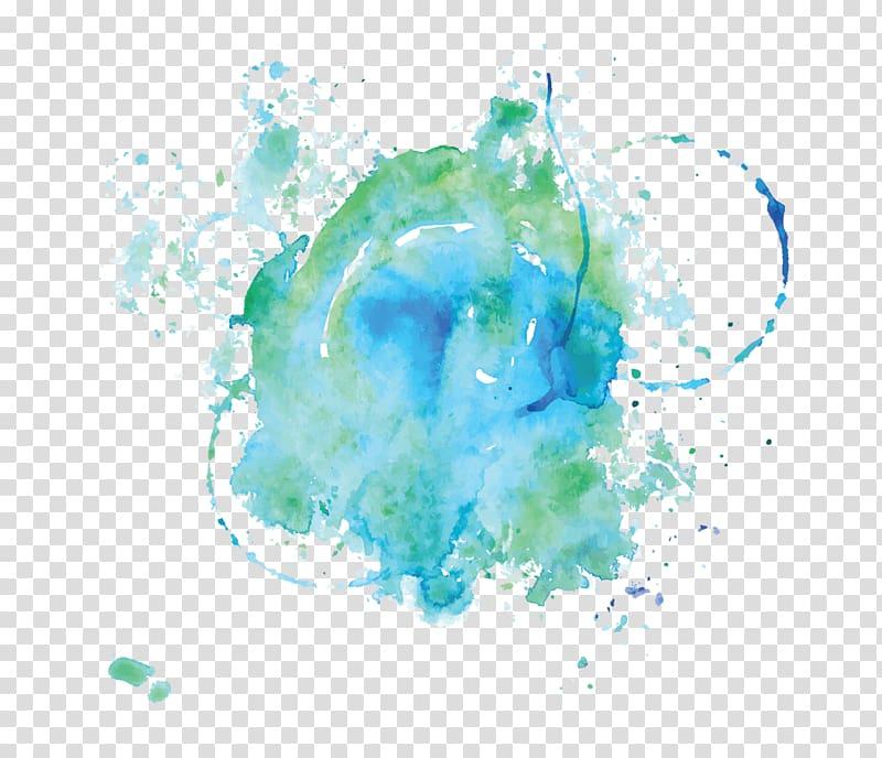 Blue soul clipart graphic Boho-chic Quotation Hippie Soul Saying, blue splash transparent ... graphic