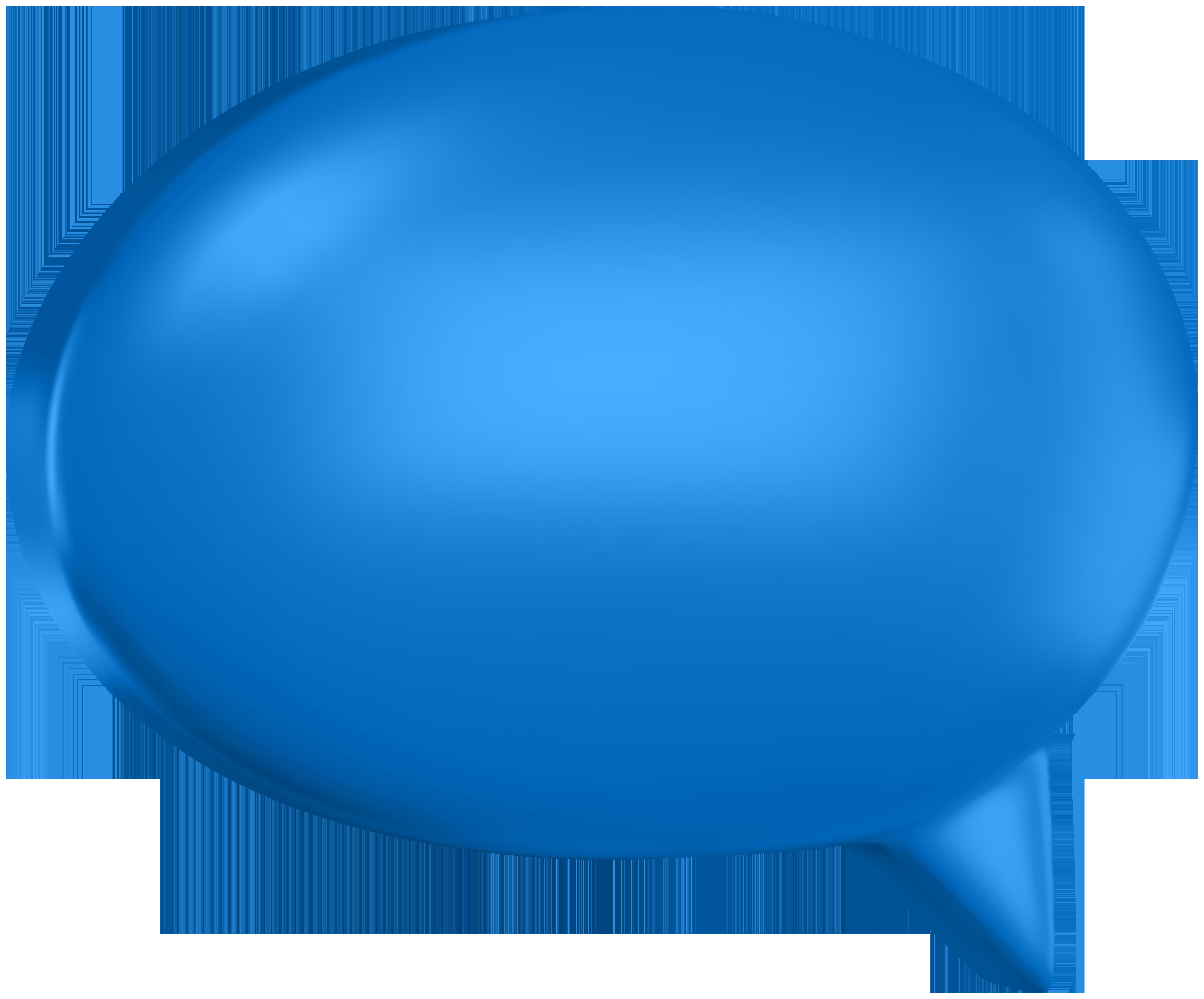 Blue speech bubble clipart image royalty free stock Blue Speech Bubble Clip Art Image   Gallery Yopriceville - High ... image royalty free stock