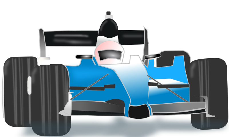 Racing car clipart free banner library stock Clipart - race car blue banner library stock