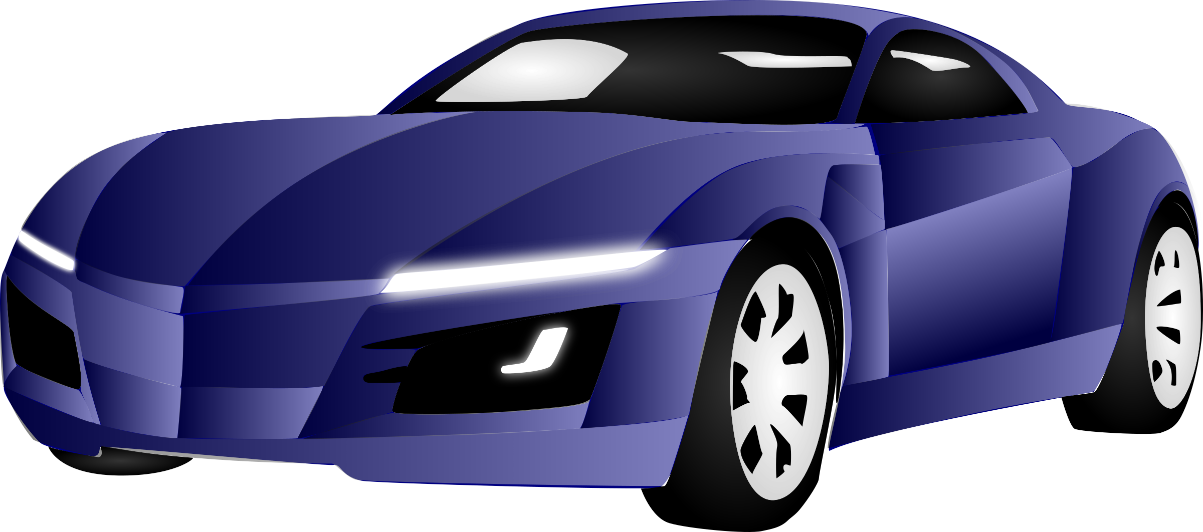 Car with hood open clipart picture transparent Sports car Clip art - car cartoon 2400*1062 transprent Png Free ... picture transparent