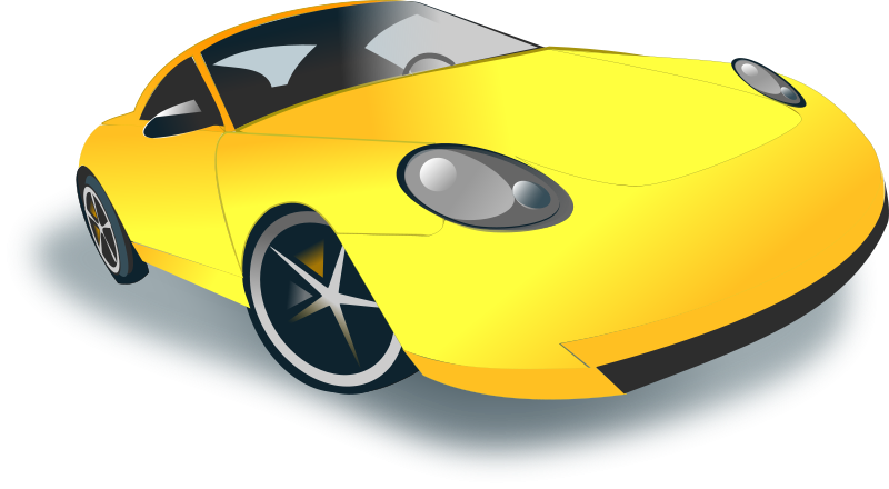 Blue sports car clipart vector library library 28+ Collection of Yellow Sports Car Clipart | High quality, free ... vector library library