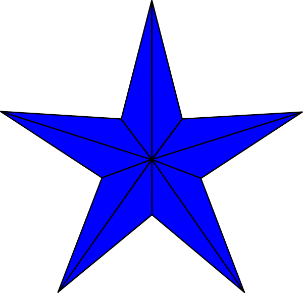 Blue star clipart clip black and white download Blue Star Clip Art at Clker.com - vector clip art online, royalty ... clip black and white download