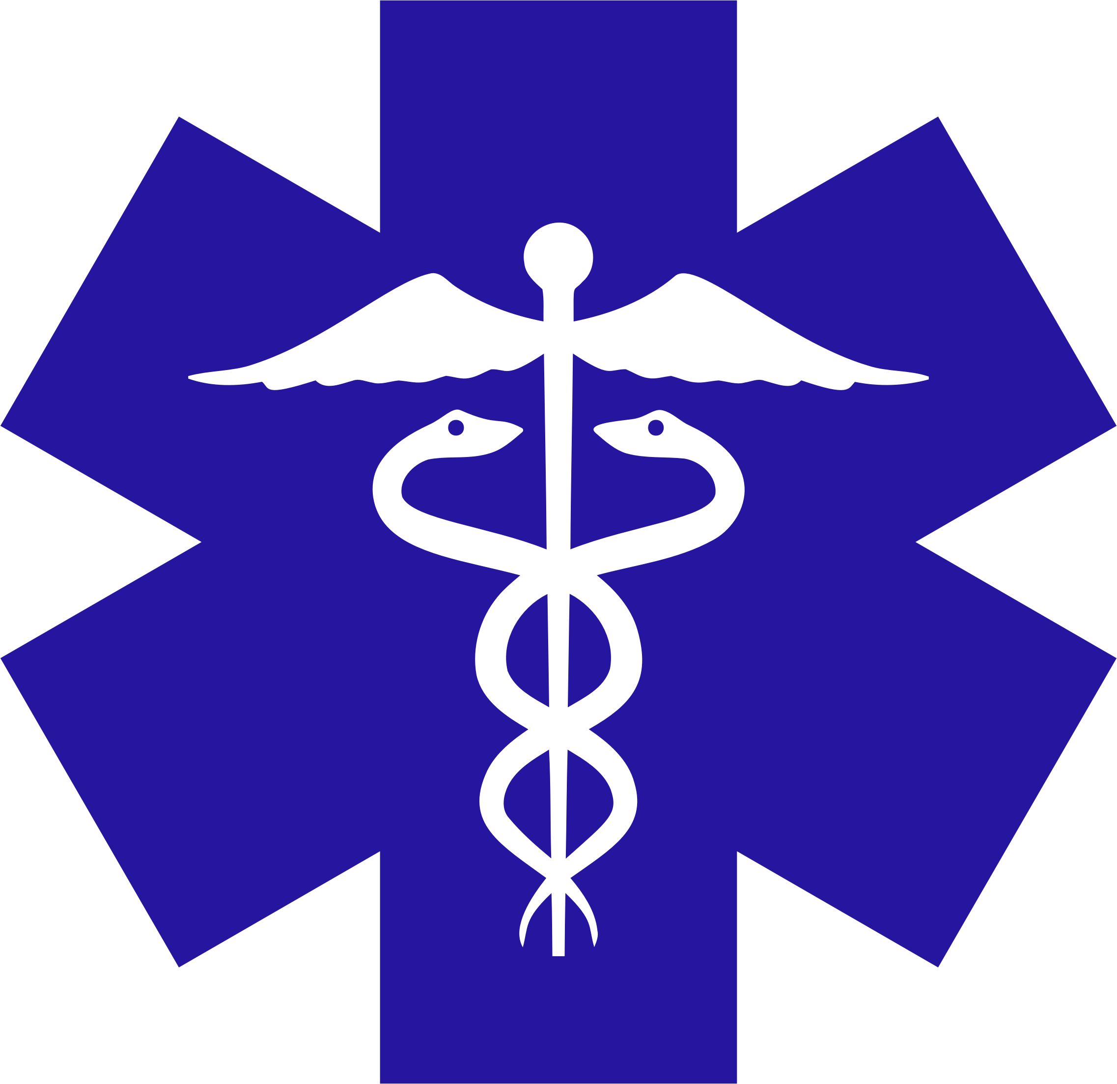 Clipart blue star black and white stock Clipart - Caduceus On Blue Star Of Life black and white stock
