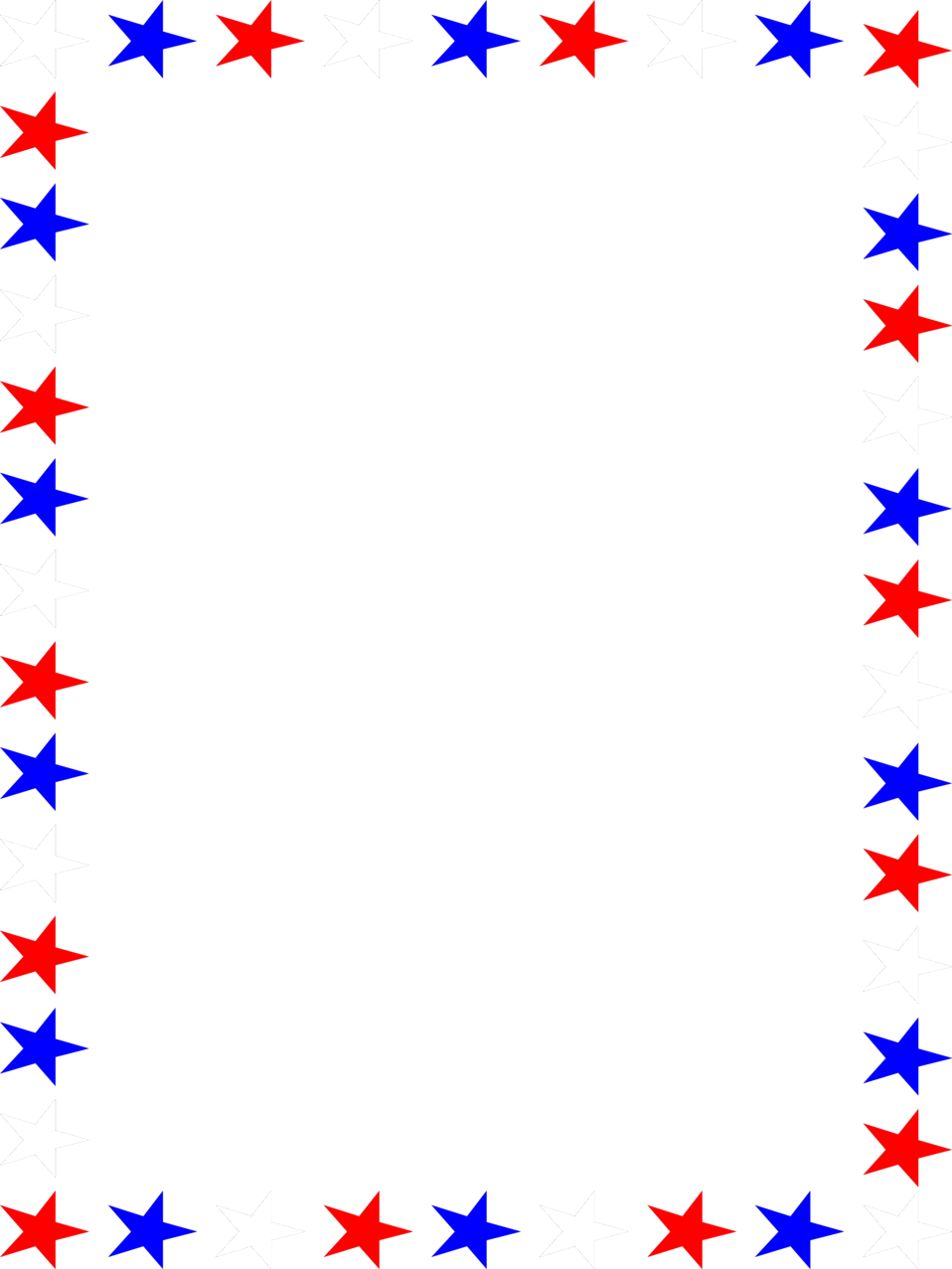 Red white and blue star border clipart freeuse download 4371-illustration-of-a-blank-frame-border-of-red-white-and-blue ... freeuse download
